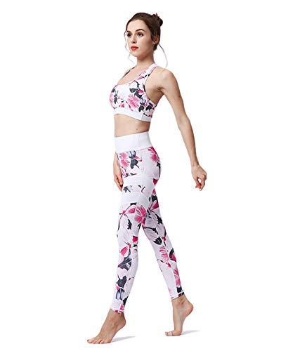 Trend, 2018, sportpak voor dames, top en leggings om af te slanken, sportswear, workout, yoga, gym, fitness, hoge taille-set tanktop en panty