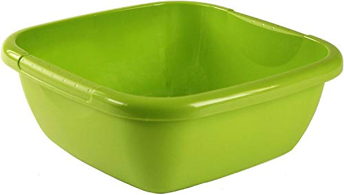 Rotho Daily Becken / Spülwanne 8l eckig, Kunststoff (PP) BPA-frei, grün, 8l (34,5 x 34,5 x 13,0 cm)