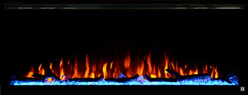"""Touchstone Sideline Elite Smart 50"""" WiFi-Enabled Electric Fireplace - 80036 - in-Wall Recessed -..."""