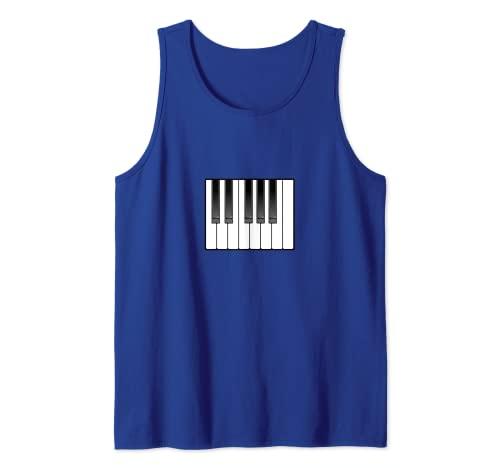 Piano Octave Teclado Ocho Teclas Camiseta sin Mangas