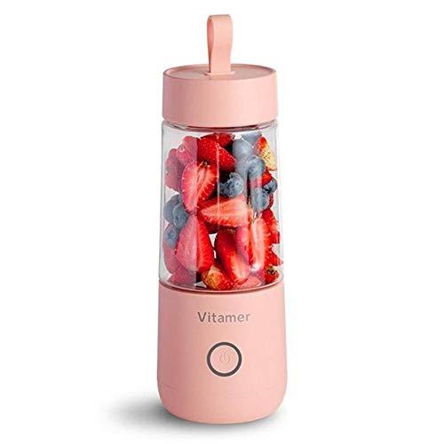 weichuang Exprimidor portátil de tamaño USB, exprimidor de frutas eléctrico de mano batido...