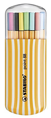Stabilo Point 88 Fineliner - 0.4mm Line - Zebrui Set - Surtido Cartera de 20 Colores