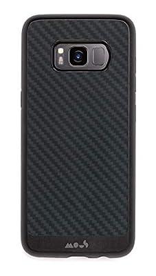 Mous Protective Samsung Case Galaxy S8 Carbon Fibre/Leather/Walnut