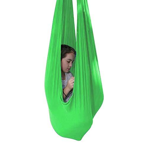 ZYXF Silla de Columpio Hamaca sensorial para niños o Adultos para Colgar con Asiento Ajustable y Antena para Yoga Cuerda de árbol y Terapia de Autismo