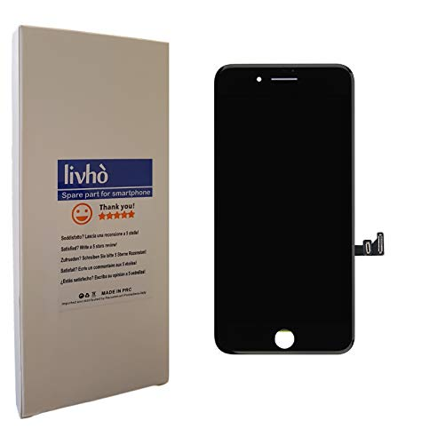 livhò® Scherm LCD Zwart compatibel met iPhone 7 Plus/Display LCD + Touchscreen