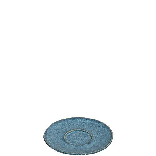 Leonardo Matera Unterteller 4-er Set, spülmaschinengeeignete Steingut-Unterteller für Espressotassen, 4 Keramik-Untertassen, blau Ø 11 cm, 018603