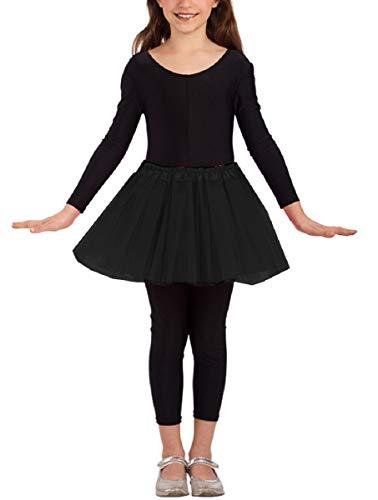 Falda tut de tul para nia - danza clsica - nia - 3 capas - 2/7 aos - falda - ballet - disfraz para nia - carnaval - idea de regalo - navidad - color negro