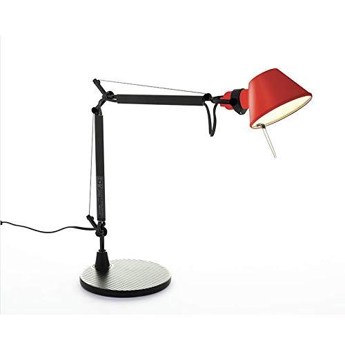 Artemide Tolomeo Micro BiColor Tafellamp, draaibaar, Limited Edition, zwart/koraal