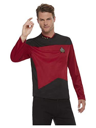 Smiffys Smiffy's 52341M Offiziell lizenziertes Star Trek, The Next Generation Command Uniform, Men, rot, M - Size 38