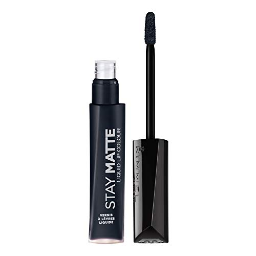 Rimmel Stay Matte Lip Liquid, Pitch Black, 0.21 Fl Oz (Pack of 1)