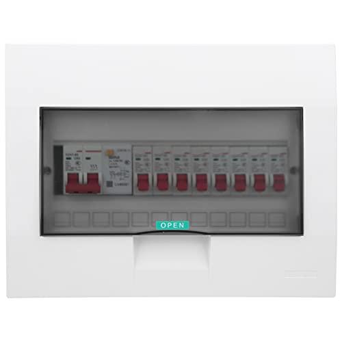 01 Transparente Abdeckung Stromverteilungs-Schutzbox, Innenverteiler-Verteiler-Schutzbox Kunststoff 8-Wege-Heim für Garagen