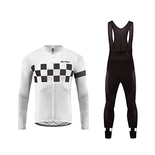 Uglyfrog Radtrikot Herren Langarm Fahrradbekleidung Anzüge Outdoor Sports Radfahren Jersey + Radfahren Latzhose Lange Hosen im Frühling