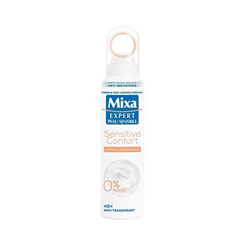 MIXA - Déodorant Femme Peaux Sensibles 150Ml - Lot De 3 - Vendu Par Lot