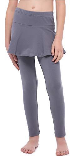 Merry Style Mädchen Lange Leggings aus Baumwolle mit Rock MS10-254 (Graphite, 146 cm)