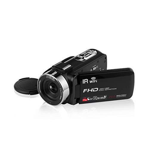 """Video Camera Camcorder with Microphone & Remote 2.7K UHD 30FPS Vlogging Camera with 270° Rotation 3"""" Touch Screen 30MP 16X Digital Zoom Night Vision Webcam Digital Camera for YouTube"""