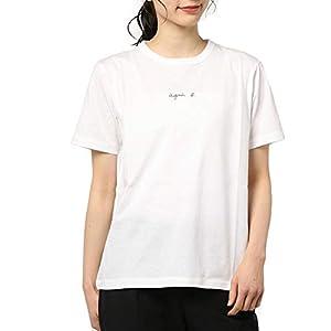アニエスベー 小さいロゴ レデ レディース Tシャツ 半袖 カットソー ロゴTシャツ FEMME コットン100% 黒 白 ショップバッグ付き (ホワイト, M(2)) [並行輸入品]