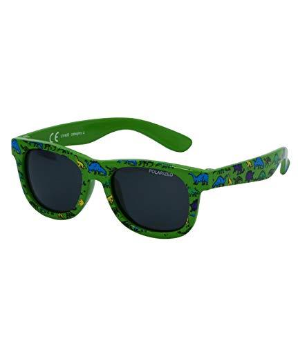 Kiddus Baby Sonnenbrille POLARISIERT Linsen für Jungen Mädchen. Ab 8 Monaten. Mit flexiblen Beinen. UV400 100% UVA- und UVB-Schutz. Sicher, komfortabel und stoßfest. LITTLE KIDS (29 Grüner Dino)