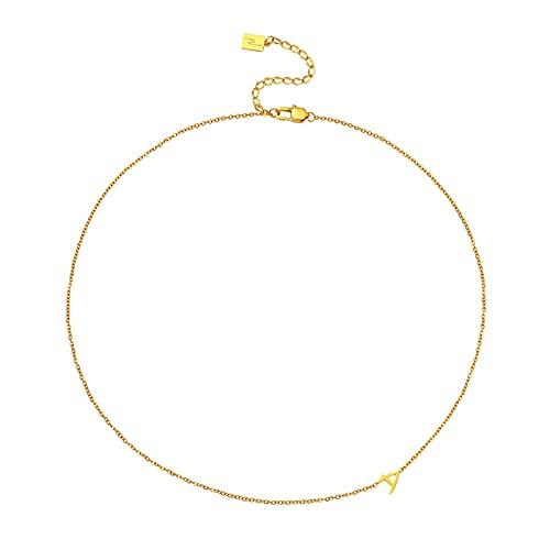 KGDC Collares Collar Femenino Cadena de clavícula Diseño de Moda Simple Temperamento Titanio Acero Non-Faded Cock Cadena Collares para Mujeres Collars de Mujer