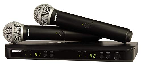 Shure BLX288E/PG58 Dual Channel Wireless Microphone System with 2 PG58...