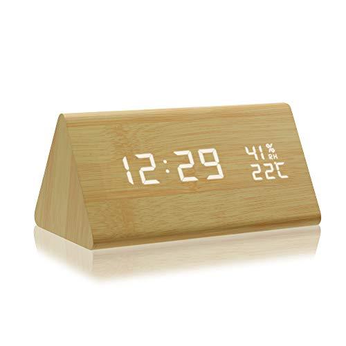 Despertador Digital Madera  marca AZbornaz