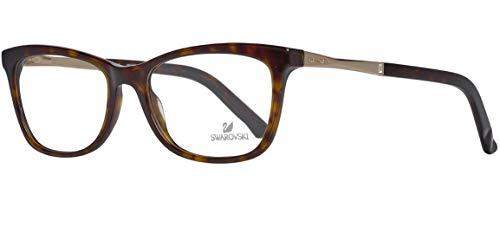 Swarovski SK5196 53052 Brille SK5196 53052 Rechteckig Brillengestelle 53, Braun