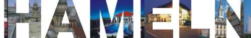 PEMA INDIGOS UG - Wandtattoo Wandsticker Wandaufkleber - Aufkleber farbige Wandschrift Städtename Städtename Hameln mit Sehenswürdigkeiten 180 x 28 cm Länge