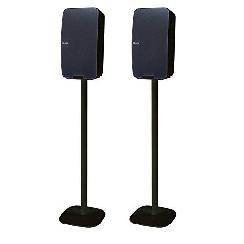 Vebos Floor Stand Sonos Play 5 gen 2 Black Set - Vertical en Optimal Experience in Every Room - Compatible with Your Sonos Play 5 Speaker