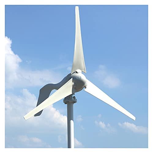 Aerogeneradores Turbina de viento 800W 12V 24V generador con 6 cuchillas Controlador PWM gratis para uso en el hogar Energía solar y eólica (Color : 400W 3 Blades, Specification : With PWM)