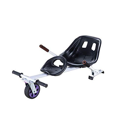 XAWV Accesorio De Asiento Doble Hoverboard,Kit De Conversión De Carritos Karts para 6.5' 8' 10' Hoverboard,Accesorios Kit Hover Board Compatibles para Niños Y Adultos-Blanco Asiento Doble