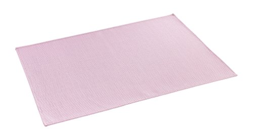 décorline set de table 32x47cm pvc silky rose