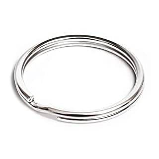 "Prudance 200Pcs 1""(25mm) Nickel Plated Steel Heat Treated Lead-Free Round Edged Split Rings/Key Rings (B00YHO1OOQ) 