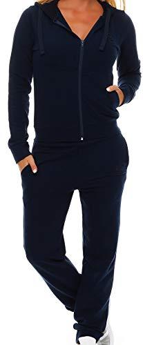 Gennadi Hoppe Damen Jogginganzug Trainingsanzug Sportanzug, blau,L