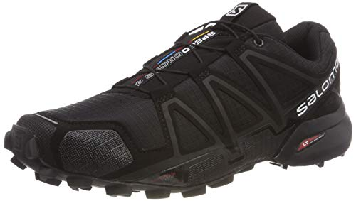 Cheapest Salomon Speedcross 4 Trail Running Shoes, Black (Black/Black/Black Metallic), 8.5 UK