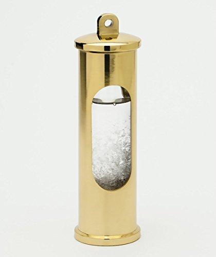 Sturmglas Barometer, Messing poliert, ohne Wandhalterung