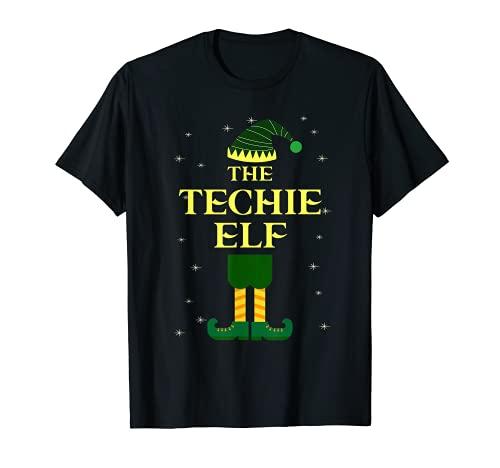 The Techie Elf - Regalo divertido de Navidad para grupo familiar Camiseta
