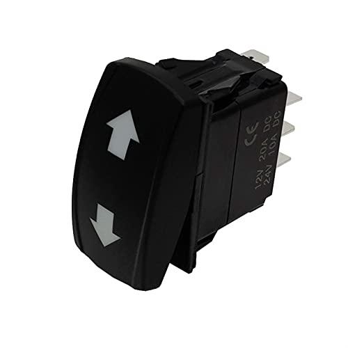 Relé de interruptor automotriz Muchas selecciones para su lámpara LED de doble verde en OFF en el interruptor de balancín de señalización de giro IP68 de 4pin (Color : 3 ON OFF ON 7PIN)