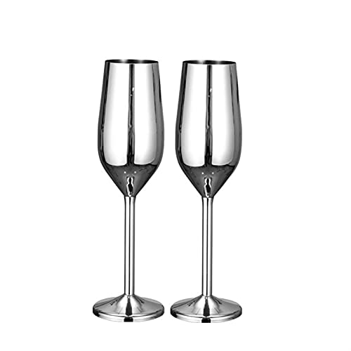 Gafas de champán de fiesta Copas de vino de bodas Conjunto grande Sistema de acero inoxidable Taza de vino tinto Sportproof Cobeblet para la herramienta de cocina de barware (Color : Army Green)