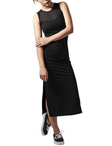 Urban Classics Damen Ladies Tech Mesh Dress Kleid, Schwarz (black 7), 34 (Herstellergröße: XS)