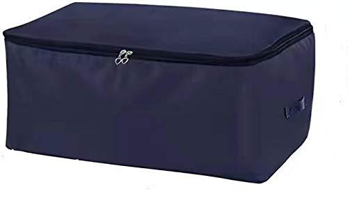 Bolsa de Almacenamiento 2 piezas Alta densidad de tela Oxford Organizador del Armario del Bolso Suave Ahorro de Espacio Bolsa para guardar la Ropa Edredones Ropa de Cama Almohadas Cortinas Azul Oscuro