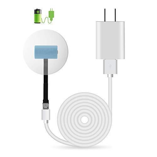 LANMU Power Supply Adapter for Google Nest Temperature Sensor (T5000SF),Compatible with Nest Thermostat,No More Replacement Battery