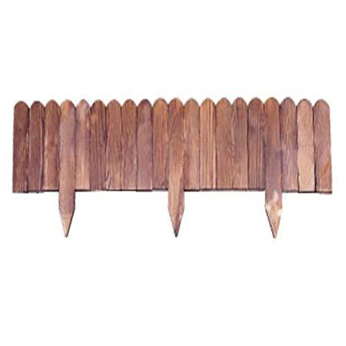 Picket Fence Split Raum Pflanzenschutz Wetter Imprägnierung Hochtemperatur-Verkokung Plug-in Holzzaun, 4 Größen (Farbe: 5PCS, Größe: 100x20cm) yqaae (Color : 1pcs, Size : 100x50cm)