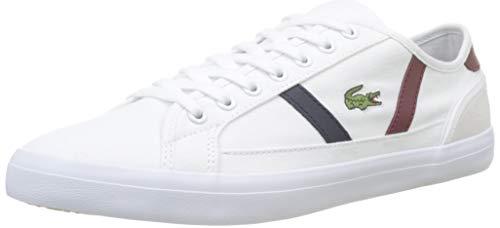 Lacoste Sideline 319 1 CMA, Sneaker Uomo, Bianco (White/Dark Red/Navy 222), 43 EU