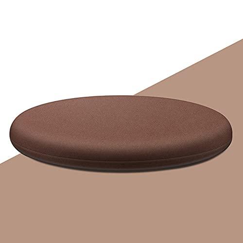 Cuscino rotondo di alta qualità per sedia da pranzo, sedia da giardino e cucina (50 cm, marrone)