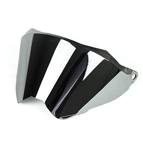 Woljay Bouclier de visière de casque modulaire Bouclier de visière (Argent)