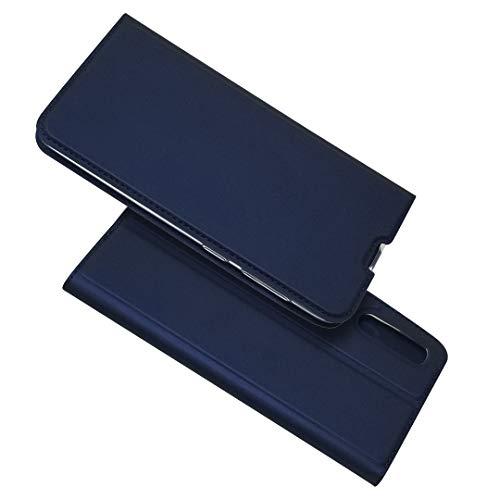 SEEYA Coque pour Samsung Galaxy A50 Rabat Magnétique, Ultra Mince Fine Housse Portefeuille Coque avec Support Aimant Fermeture Porte Carte Pochette Etui Folio pour Samsung A50 Bleu