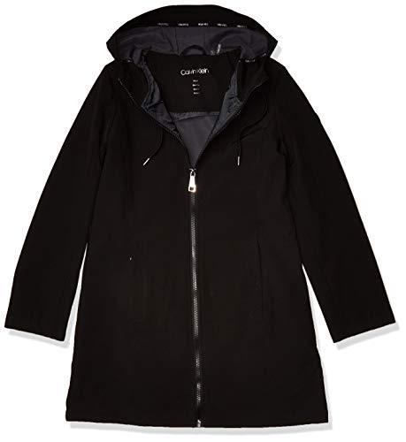 Calvin Klein Damen Women's Zip Front Softshell Übergangsjacke, schwarz, Large