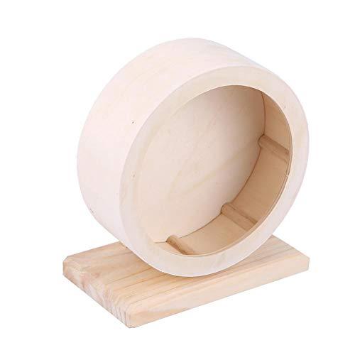 Zerodis Hamster-laufendes Spielzeug, hölzernes Übungs-Rad-Haustier-lustiges Laufrad-natürliche Laufwerkzeuge für Nette kleine Haustier-Hamster-Rennmäuse Chinchillas-Meerschweinchen-Tiere(M)