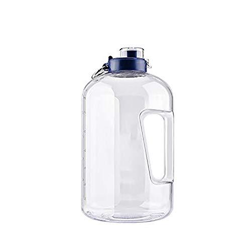 Sport Trinkflasche 3.78L Wasserflasche Spülmaschinenfest Groß Sportflasche - Auslaufsicher, BPA Frei, Transparent, Praktisch - Große Drinkflasche für das Laufen, Yoga, Im Freien und Camping-Weiß