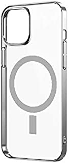 "Zealite for Iphone 12 Max Pro 6.7""Wireless Charging Magnetic Mobile Phone Case, Ultra-Thin Transparent Tpu Flexible Silico..."