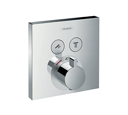 hansgrohe ShowerSelect Unterputz Thermostat, für 2 Funktionen, Chrom